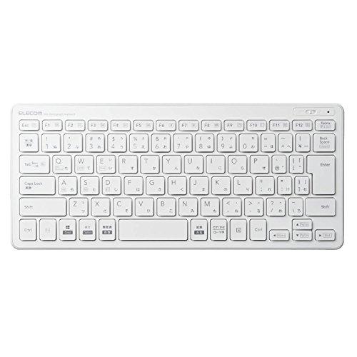 エレコム キーボード Bluetooth パンタグラフ ミニキーボード Windows・Mac・iOS・Android対応 【変換/ 無変換/ メニューキー搭載】 ホワイト TK-FBP100WH