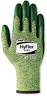 Ansell 11-511-10 Size 10 HyFlex 11-511 Medium Duty Cut and Abrasion Resistant Green Foam Nitrile Palm Coated Work Gloves with Intercept Technology Dupont Kevlar Liner and Knit Wrist, 15.34 fl. oz.