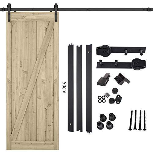 4,9 ft Schiebetürbeschlag Set1,5 m Schiebetore Laufschienen für Schiebetür Hängeschiene Schiebetürsystem Zubehörteil für Schiebetür Durchgangstüre Holztüre 150 kg