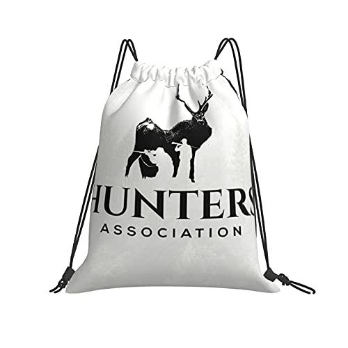 The Deer-Hunters - Mochila de deporte con cordón para mujer y hombre, mochila de polietileno impermeable y plegable