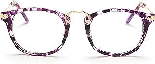 ZEVONDA Women Glasses - Vintage Metal Frame Classic Oversize Round Clear Lenses Fashion Glasses Men Women Non Prescription Eyewear