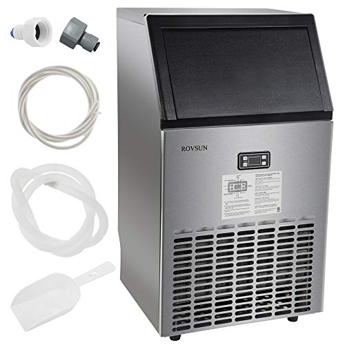 ROVSUN Commercial Ice Maker Automatic Built-In Stainless Steel Under...