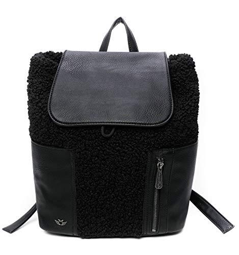 Fritzi aus Preussen Damen Poni Backpack medium Rucksack, Black, One Size