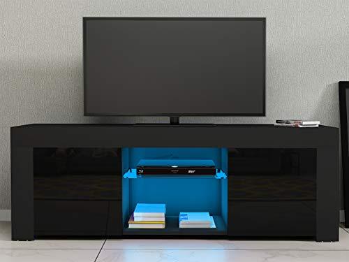 Storeinuk - Mueble para Sala de Estar (120 cm, con Luces LED, Acabado Brillante), Color Mate