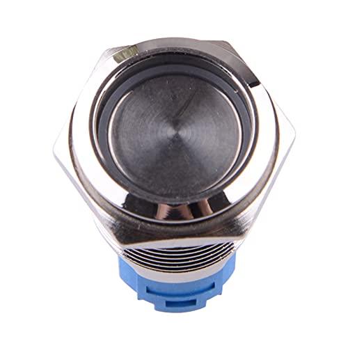 ZHANGJIN Ajuste para Universal 16mm Car 12V Motor Inicio botón pulsador Encendido Inicio de Encendido Latching Rojo LED Anillo 5 Pin Auto-Bloqueo IP67