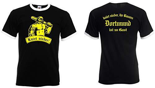 Dortmund Herren Retro Shirt Kniet nieder Ihr Bauern BB