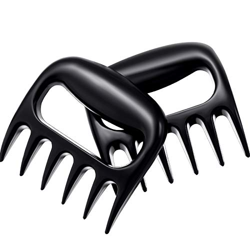2 Pieces Plastic Bear Shredder Claws Meat Shredder Meat Shredding Handles Claws Cooked Food Divider BBQ Smoker Bear Claws Meat Claw Separator BBQ Kitchen Pulled Pork Claw Fork Meat Slicer Turkey Kit