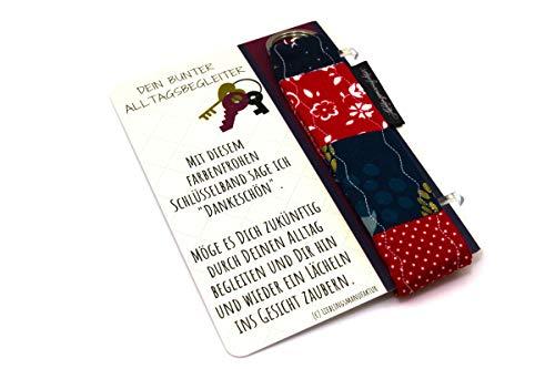 Danke für alles - Dankeschön sagen mit bunter Kleinigkeit – originelles Dankeschön Geschenk aus Karte und Schlüsselanhänger, das ein Lächeln ins Gesicht zaubert - Danke Geschenk für Lieblingsmenschen