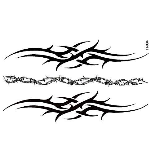 PMSMT Nueva Pulsera de Tatoo, Tatuajes temporales Negros Impermeables para Hombres, Cubierta de simulación, tótem Harajuku, Pegatina de Tatuaje al por Mayor