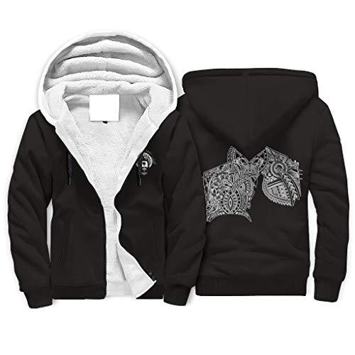 FFanClassic Sudadera con capucha de forro polar Viking para hombre de estilo suave Slim Fit con capucha blanco l