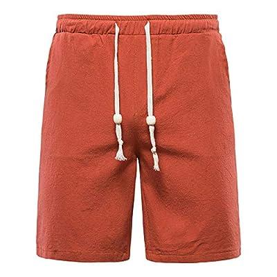 Amazon - Save 70%: DRAGONHOO Men's Summer Plain Plain Cotton and Linen Beach Shorts f…