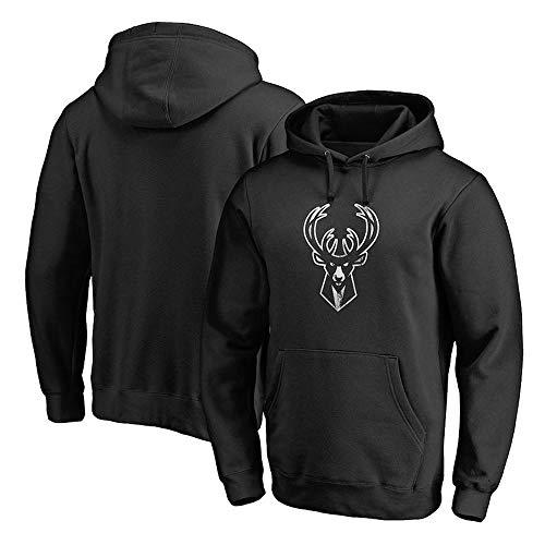 Hoodies Sweatshirt Milwaukee Bucks Basketball Trainingsanzug Beiläufige Bequeme Kapuzenpullover Black-XXL