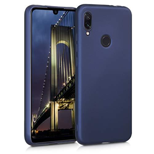 kwmobile Funda Compatible con Xiaomi Redmi Note 7 / Note 7 Pro - Carcasa móvil de Silicona - Protector Trasero en Azul Metalizado