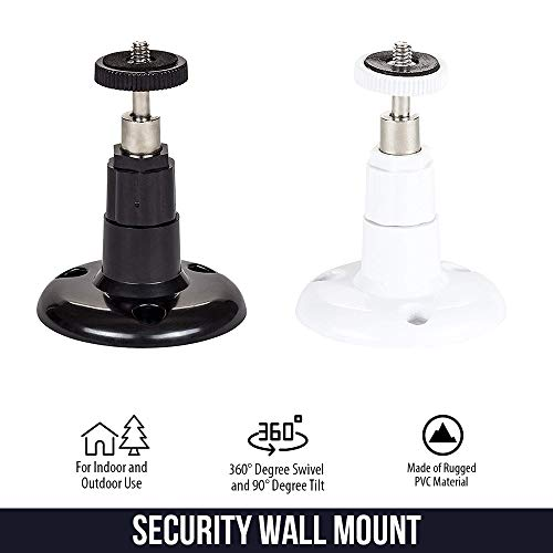 Security Wall Mount - Adjustable Indoor/Outdoor Mount Compatible with Arlo, Arlo Pro, Arlo Pro 2, Arlo Pro 3/Pro4, Arlo Ultra/Ultra2, and Other Compatible Models (3 Pack, White)