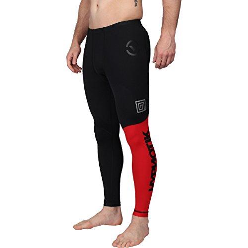 Hypnotik X Virus Stay Cool Compression RX8 Tech Pants - Black-Red -...