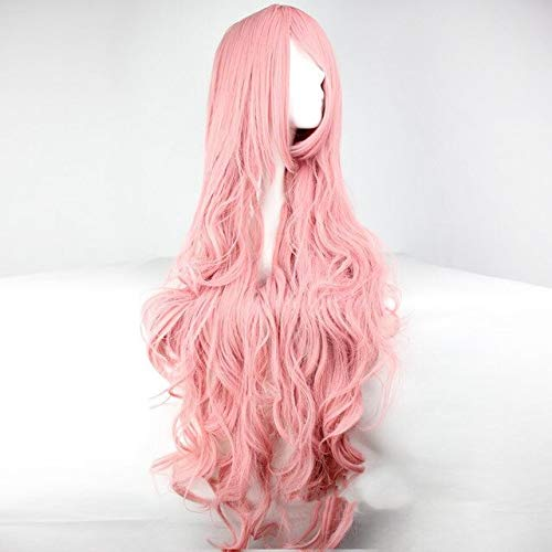 Vocaloid Megurine Luka Long Wig Cosplay Costume Women Heat Resistent Synthetic Hair Wigs+Wig Cap B