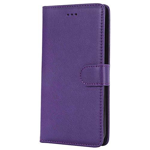 Bear Village® Hülle für LG Stylus 3 / LG Stylo 3 / LG LS777, Flip Leder Handyhülle Tasche mit Kartensfach, TPU Innere Ledertasche, 360 Grad Voll Schutz, Violett