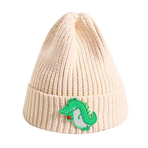 LianMengMVP Baby Hüte Kleinkinder Jungen Mädchen Cartton Strickmütze Häkeln Winter Warme Mütze Caps (Beige)