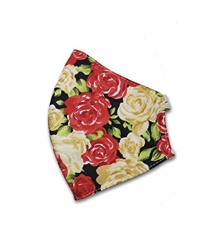 My Designer Behelfsmaske Gesichtsmaske für Damen Frauen Blumen Muster
