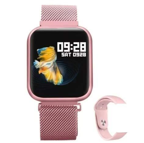 Smart Watch Relógio Inteligente P80 A Prova De Água IP68 Full Trouch Screen Pronta Entrega (Rosa)