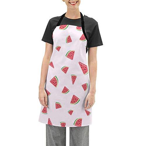 Darlene Ackerman(n) Rosa Wassermelone Schnittmuster Verstellbare Schürze Küche Kochen Soft Chef Lätzchen Schürze für Frauen Basteln BBQ Zeichnung im Freien