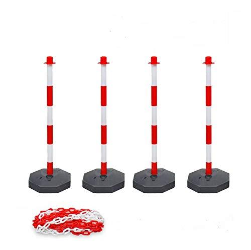 Barreras Postes de Aparcamiento 4 postes 1 cadena 6 eslabones