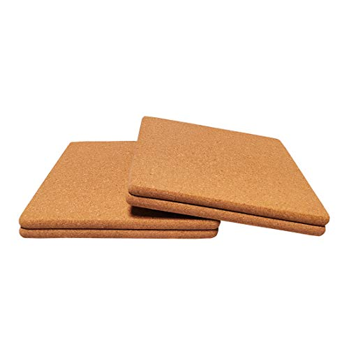 """Cork Trivets Square, for Kitchen,7-Inch Each, Set of 2 (Square-7""""x7""""x0.39"""")"""