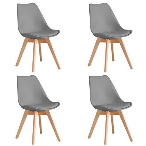 ARYANA HOME - Pack De 4 Silla nórdica Scandi Color Gris Oscuro