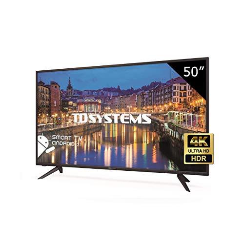 TD Systems K50DLH8US - Televisore Led 50 Pollici Ultra HD 4K Smart, risoluzione 3840 x 2160, HDR10, 3x HDMI, VGA, 2x USB, Smart TV