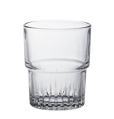 Duralex - Empilable vasos de vidrio 160ml, apilable, sin la marca de llenado, 6 unidades
