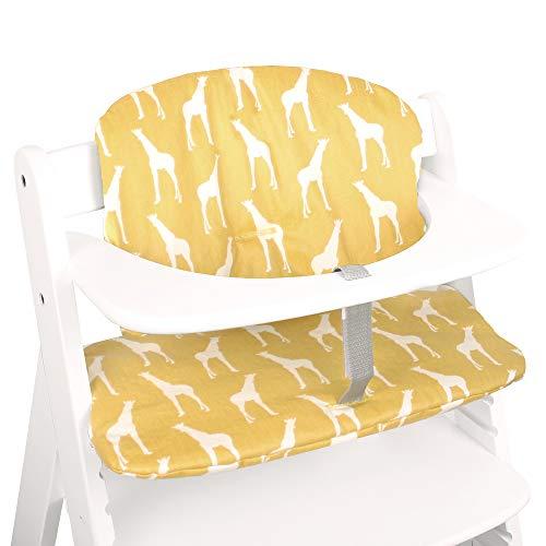 Ukje-Cushion hecho a medida para Hauck Alpha y Hauck Beta, juego de 2 piezas, cojín de algodón Oeko-TEX Standard 100 revestidos de cojín fácil de limpiar con toallitas-jirafa