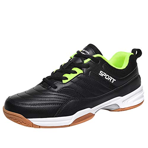 VonVonCo Fashion Sneakers for Mens Trend Breathable Non-Slip Wear-Resistant Outdoor Running Tennis Shoes Black 7.5