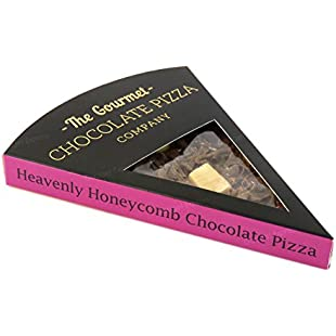 Genuine Heavenly Honeycomb Gourmet Chocolate Pizza Company Pizza Slice Perfect Gift Present for Birthday Christmas Party Thank You Anniversary Graduation Exam Results