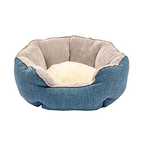 Cama Gato Cueva Camas para Perros Perro pequeño Cama del Perro Perro Cama Cueva Cachorro Camas Gato Cesta Interior Casa de Mascotas Gato Blue