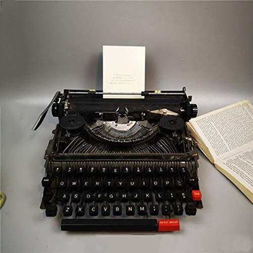 Schwarze Reine manuelle Maschinen Nackte Bewegung Alte Schreibmaschine Klassische antike Ornamente