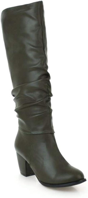 Zgshnfgk Woman's Chunky Heel Boots