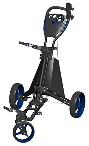Spin It Golf Products Easy Drive Golf Push Cart, Black/Blue