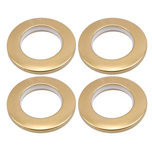ZOZOSEP R&e Form Kunststoff Ring für Öse Vorhang Jalousien Vorhang Kreis Gleitringe Clips Ösen, Dumm Gold (50 Stücke)