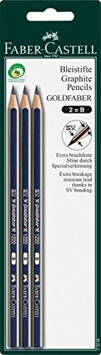 Faber-Castell 115599 - Bleistift Dessin B, 3 Stück