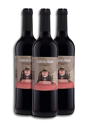 Vino Tinto - Leyenda del Páramo - Pedro Del Páramo - Caja De 3 botellas De 0,75 Litros - Envio en caja protectora de alta resistencia para un transporte 100% seguro