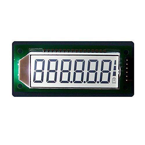 3 unidades blancas 6 dígitos 7 segmentos digitales 5 V módulo de pantalla LCD placa de pantalla incorporada HT1621 controlador con retroiluminación