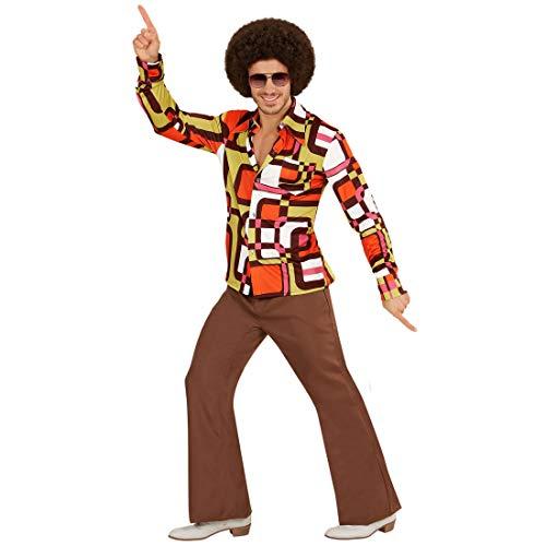 Amakando Chemise Disco années 70 & 80   en Taille XXL (FR 56)   Déguisement culte Saturday Night Parfait pour soirée Disco & Carnaval
