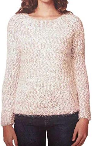 Buffalo David Bitton Women Eyelash Twisted Yarn Sweater 1105873 Pink S product image