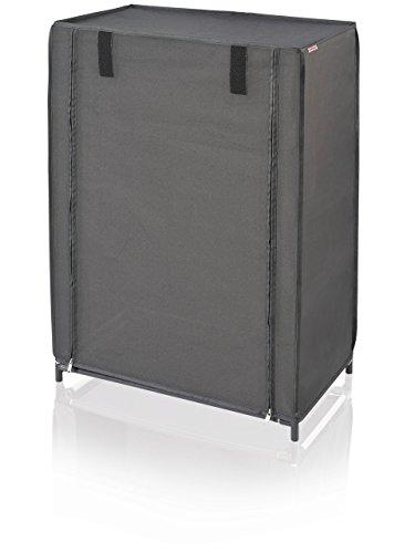 Leifheit 80005 Zapatero, Tela, Negro, 58.5 x 23 x 6.5 cm