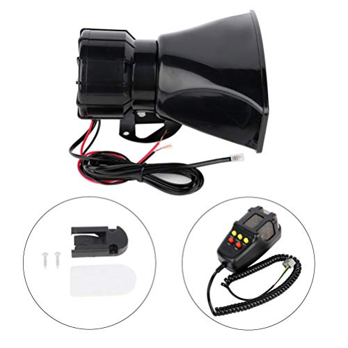 OCPTY Car Warning Alarm Powerful5 Tone Sound 12V Security Alarm Horns Siren for for Train Car Truck Boat RV