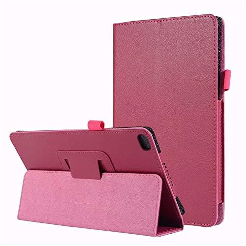 Estuche de 2 Pliegues para Lenovo Tab E7 Tableta de 7 Pulgadas Carcasa Protectora de Cuero PU para Lenovo TB-7104F TB-7104I-Rosa