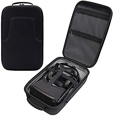 Hard Travel Case for Oculus Quest VR Gaming Headset and Controllers Accessories Waterproof Shockproof Carring case from DEWVIE