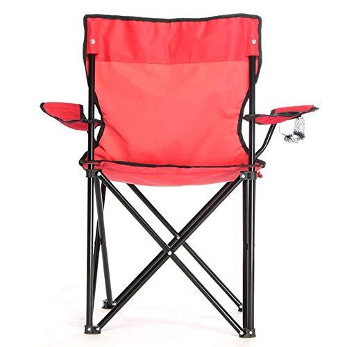 C/H Silla de camping ligera respaldo de playa plegable apoyabrazos silla al aire libre mochilero camping sillas portátiles para picnic pesca