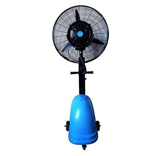 FUFU Climatizadores evaporativos Ventilador oscilante nebulizador de 26 pulgadas, Ventilador eléctrico de pulverización industrial potente comercial al aire libre, Adecuado para exteriores, Fábrica, C