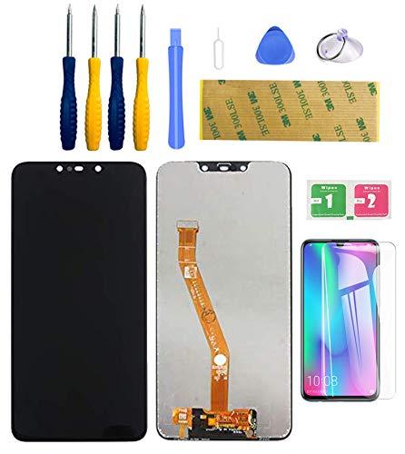 LWMTT Pantalla Tàctil digitalizador LCD Compatible para Huawei Mate 20 Lite Negro, Conjunto Completo Recambio Herramientas para la Reparación,con Vidrio Templado